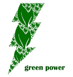 Green power vector image