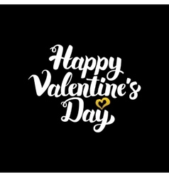 Happy Valentine Handwritten Calligraphy vector image