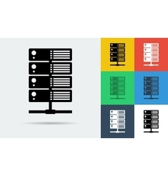 icon of internet server vector image vector image