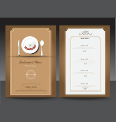 Restaurant or cafe menu design template vin vector image vector image