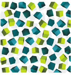 abstract background of blue and green 3d cubes vector image vector image