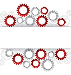 Abstract web design with copy space in cog wheel vector