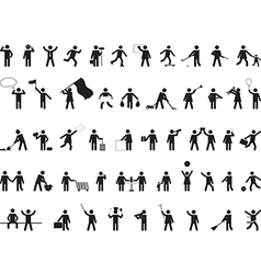 Common pictogram people activities vector image vector image