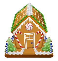 Gingerbread house with candies vector image vector image