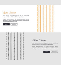 gold and silver chains page vector image