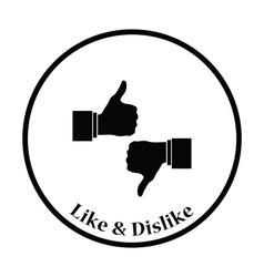 Icon of Like and dislike vector image