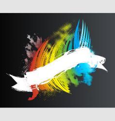 rainbow ribbon banner vector image