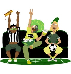 Watching a football game vector image