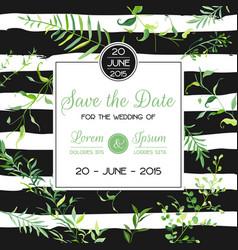 wedding invitation or congratulation floral card vector image