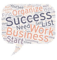 Business Aimed to Success To Do List text vector image vector image