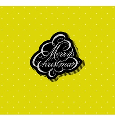 Calligraphic Christmas tree vector image vector image