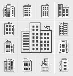 icons building vector image