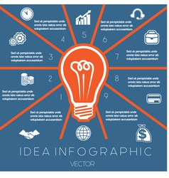 Idea Business Concept Light bulb infographic 10 vector image vector image