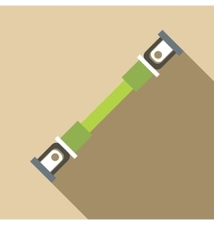 Safety seatbelt icon flat style vector image