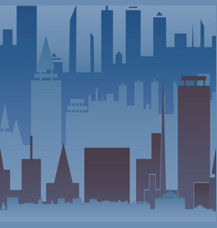 abstract big city seamless pattern urban print vector image