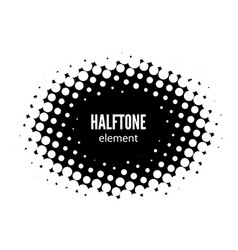 abstract halftone design element black vector image
