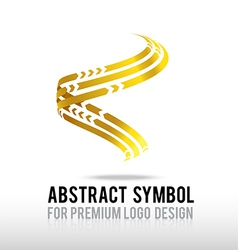 Abstract premium gold and spiral logo symbol vector image