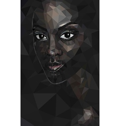 African woman polygonal vector