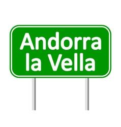 Andorra la vella road sign vector