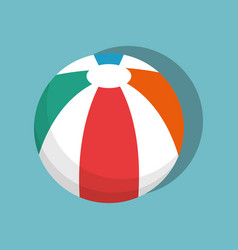 Balloon beach isolated icon vector