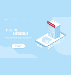 banner concept for online diagnostic vector image