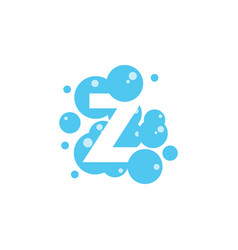 bubble with initial letter z graphic design vector image