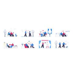bundle love couple scenes vector image