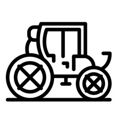 Carriage transport icon outline style vector