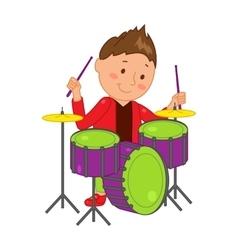 Cartoon musician kid vector