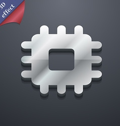 Central processing unit icon symbol 3d style vector