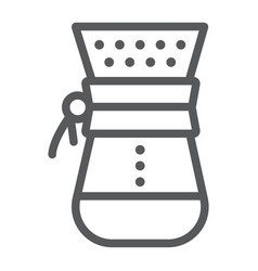 Chemex line icon coffee and cafe coffeemaker vector