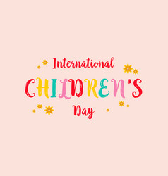 Childrens day colorful style background vector