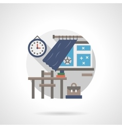 Classroom detail flat color icon vector image