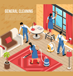 Cleaning service isometric vector