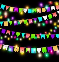 Color garland festive decorations vector