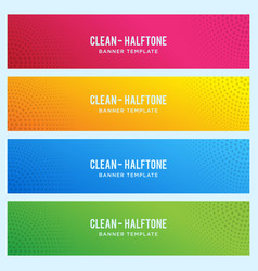 Colorful banner with halftone pattern vector