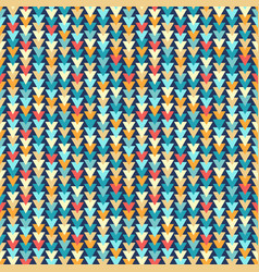 colorful triangles seamless pattern vector image