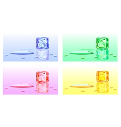 Colour cubes of ice vector