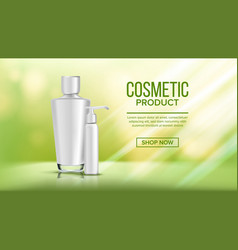 cosmetic bottle poster sale flyer empty vector image