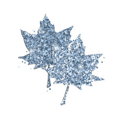cute glitter maple leaves on white vector image