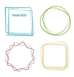 design element grunge vector image