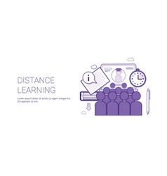 distance learing online business concept elearning vector image