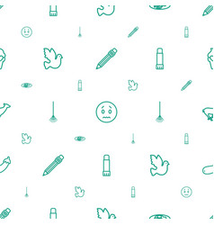 Drawing icons pattern seamless white background vector