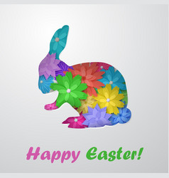 easter hare of flowers vector image