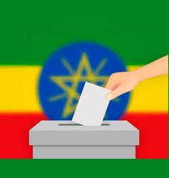 Ethiopia election banner background ballot box vector
