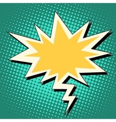 explosion and lightning comic bubble retro vector image