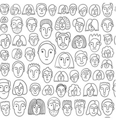 Faces of people - seamless background vector