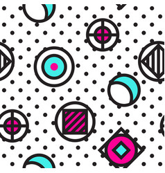 festive background in memphis style vector image