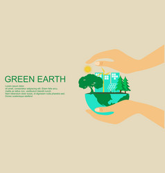 Flat design plant ecology green world vector