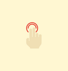 Flat icon gesture element of vector